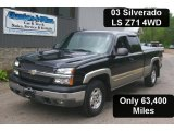 2003 Black Chevrolet Silverado 1500 Z71 Extended Cab 4x4 #30816379