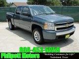 2008 Blue Granite Metallic Chevrolet Silverado 1500 LS Crew Cab 4x4 #30816400