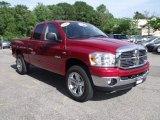 2008 Inferno Red Crystal Pearl Dodge Ram 1500 Big Horn Edition Quad Cab 4x4 #30816744