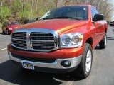 Sunburst Orange Pearl Dodge Ram 1500 in 2007