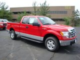 2010 Vermillion Red Ford F150 XLT SuperCab 4x4 #30894340