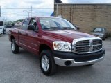 2006 Inferno Red Crystal Pearl Dodge Ram 1500 SLT Quad Cab 4x4 #30894644
