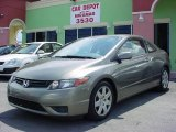 2007 Galaxy Gray Metallic Honda Civic LX Coupe #30894689