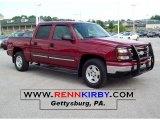 2006 Sport Red Metallic Chevrolet Silverado 1500 LT Crew Cab 4x4 #30894701