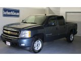 2009 Blue Granite Metallic Chevrolet Silverado 1500 LTZ Crew Cab 4x4 #30894815