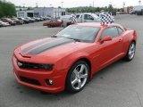 2010 Inferno Orange Metallic Chevrolet Camaro SS/RS Coupe #30894956