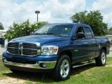 2008 Electric Blue Pearl Dodge Ram 1500 Big Horn Edition Quad Cab #30935626