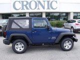 2010 Deep Water Blue Pearl Jeep Wrangler Sport 4x4 #30935733