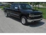 2002 Onyx Black Chevrolet Silverado 1500 LS Extended Cab 4x4 #30936196