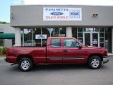 2004 Sport Red Metallic Chevrolet Silverado 1500 LS Extended Cab #30935867