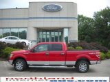 2010 Vermillion Red Ford F150 XLT SuperCrew 4x4 #30935487