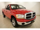 2006 Flame Red Dodge Ram 1500 SLT Quad Cab 4x4 #30894893