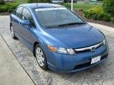 2007 Atomic Blue Metallic Honda Civic LX Sedan #30894906
