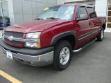 2005 Sport Red Metallic Chevrolet Silverado 1500 Z71 Crew Cab 4x4 #30935541