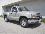 2004 Silver Birch Metallic Chevrolet Silverado 1500 Z71 Regular Cab 4x4 #31038362