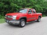 2005 Victory Red Chevrolet Silverado 1500 Z71 Extended Cab 4x4 #31038516