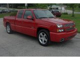 2004 Victory Red Chevrolet Silverado 1500 SS Extended Cab AWD #31038518