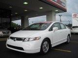 2007 Taffeta White Honda Civic Hybrid Sedan #31080174