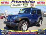 2010 Deep Water Blue Pearl Jeep Wrangler Sport 4x4 #31079690