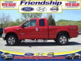 2004 Red Ford F250 Super Duty XLT SuperCab 4x4 #31079715