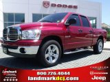 2008 Inferno Red Crystal Pearl Dodge Ram 1500 Big Horn Edition Quad Cab #31079967