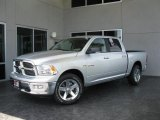 2010 Bright Silver Metallic Dodge Ram 1500 Big Horn Crew Cab #31079494