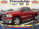 2010 Inferno Red Crystal Pearl Dodge Ram 1500 Big Horn Quad Cab 4x4 #31079523