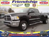 2010 Brilliant Black Crystal Pearl Dodge Ram 3500 Big Horn Edition Crew Cab 4x4 Dually #31079526