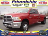 2010 Inferno Red Crystal Pearl Dodge Ram 3500 Big Horn Edition Crew Cab 4x4 Dually #31079531