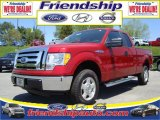2010 Vermillion Red Ford F150 XLT SuperCab 4x4 #31079559