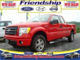 2010 Vermillion Red Ford F150 STX SuperCab 4x4 #31079569