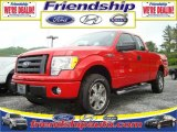 2010 Vermillion Red Ford F150 STX SuperCab 4x4 #31079576