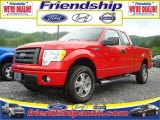 2010 Vermillion Red Ford F150 STX SuperCab 4x4 #31079578
