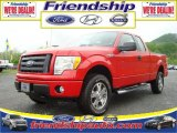 2010 Vermillion Red Ford F150 STX SuperCab 4x4 #31079579