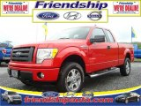 2010 Vermillion Red Ford F150 STX SuperCab 4x4 #31079580