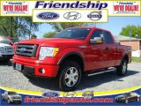2010 Vermillion Red Ford F150 XLT SuperCab 4x4 #31079585