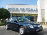 2008 Dark Blue Ink Metallic Ford Fusion SE #3093817