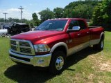 2010 Inferno Red Crystal Pearl Dodge Ram 3500 Laramie Crew Cab 4x4 Dually #31080348