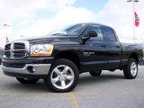 2006 Brilliant Black Crystal Pearl Dodge Ram 1500 Big Horn Edition Quad Cab 4x4 #3090753