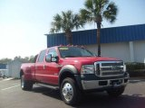 2007 Red Ford F550 Super Duty Lariat Crew Cab Dually #3093757