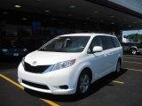 2011 Super White Toyota Sienna LE #31145300