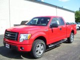 2010 Vermillion Red Ford F150 STX SuperCab 4x4 #31145052