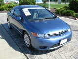 2007 Atomic Blue Metallic Honda Civic LX Coupe #31145519