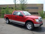 2010 Vermillion Red Ford F150 XLT SuperCab 4x4 #31145079