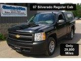 2007 Black Chevrolet Silverado 1500 Work Truck Regular Cab #31145154