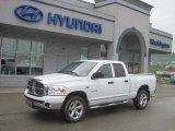 2008 Bright White Dodge Ram 1500 Big Horn Edition Quad Cab 4x4 #31204210