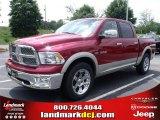 2010 Inferno Red Crystal Pearl Dodge Ram 1500 Laramie Crew Cab #31204252