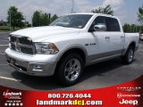 2010 Stone White Dodge Ram 1500 Laramie Crew Cab #31204253