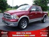2010 Inferno Red Crystal Pearl Dodge Ram 1500 Laramie Crew Cab 4x4 #31204255