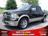 2010 Brilliant Black Crystal Pearl Dodge Ram 1500 Laramie Crew Cab 4x4 #31204256